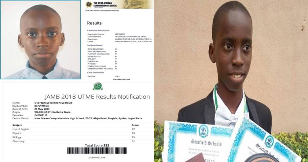 Photo of 15-year-old boy Who Passed JAMB & WAEC with A's Fails to Get Admission Into UNILAG [See Shocking Reason]