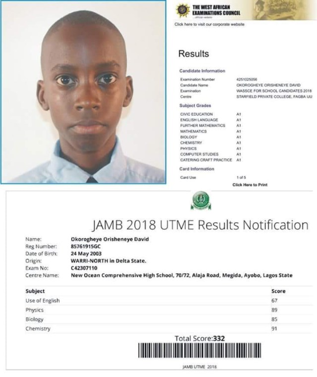 15-year-old boy Who Passed JAMB & WAEC with A's Fails to Get Admission Into UNILAG [See Shocking Reason] - OkayNG News