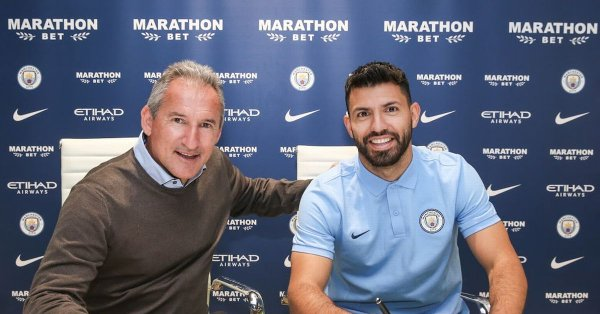 Sergio Aguero Sign One-Year Contract Extension Until 2021 - OkayNG News