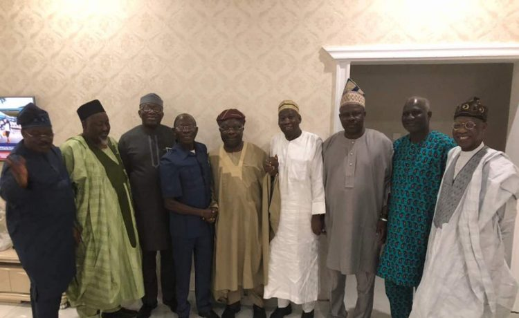 Omisore and Oshiomhole with APC Governors In Osun