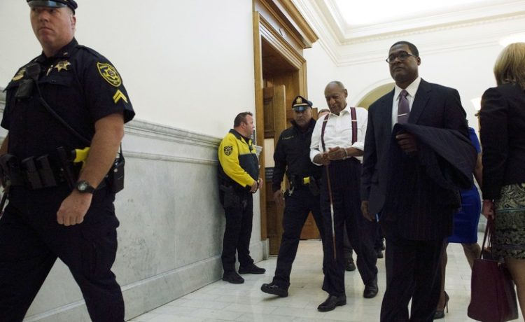 Bill Cosby leaves the courtroom after he was sentenced to three-to 10-years