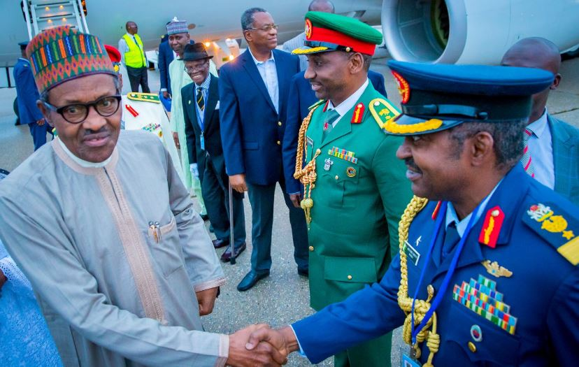 President Buhari Arrives New York for UN General Assembly [See Photos] - OkayNG News