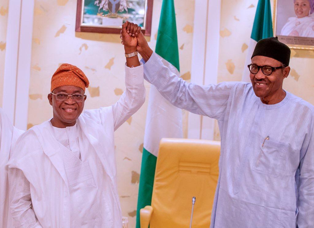 President Buhari and Adegboyega Oyetola