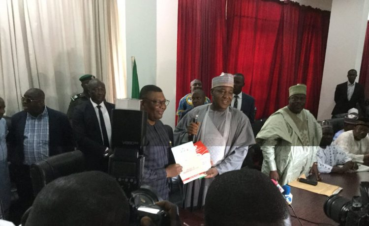 PHOTOS: Dogara Submits PDP Nomination Form at Party's National Secretariat - OkayNG News