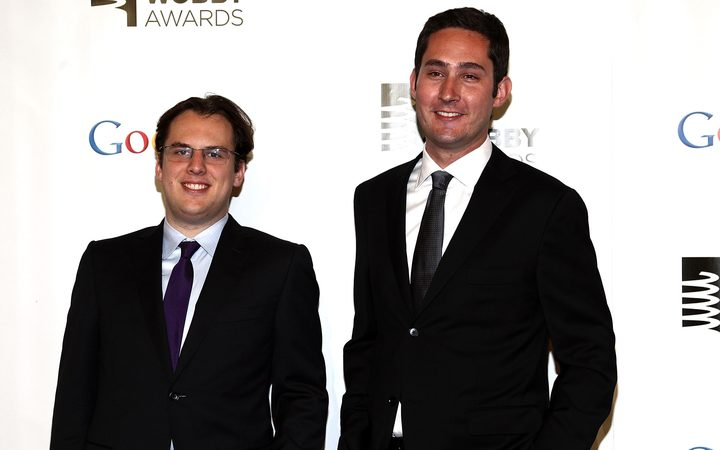 Co-founders of Instagram, Kevin Systrom and Mike Krieger