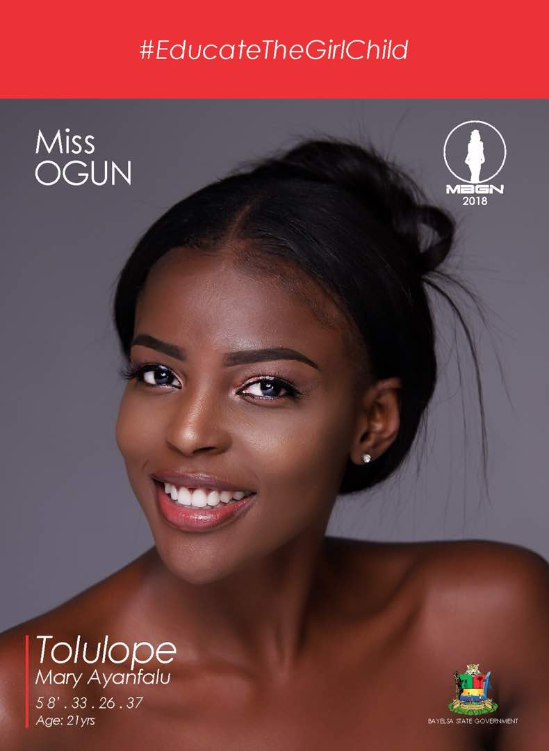 Miss Ogun Tolulope Mary Ayanfalu - Miss Imo Anita Ukah Emerges Winner of #MBGN2018