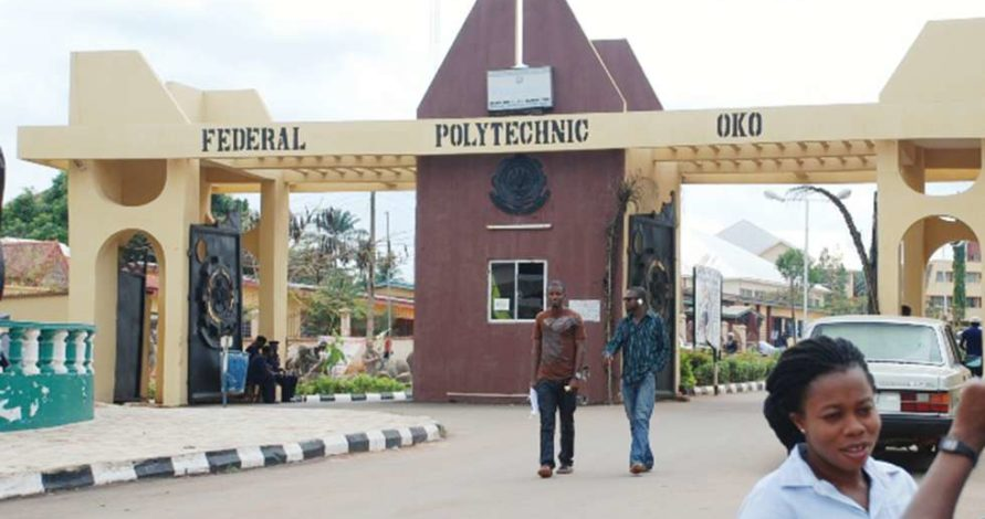 Oko Poly 891x470 - Federal Polytechnic Oko (OKOPOLY) 2018/2019 ND Weekend And Evening Admission Announced