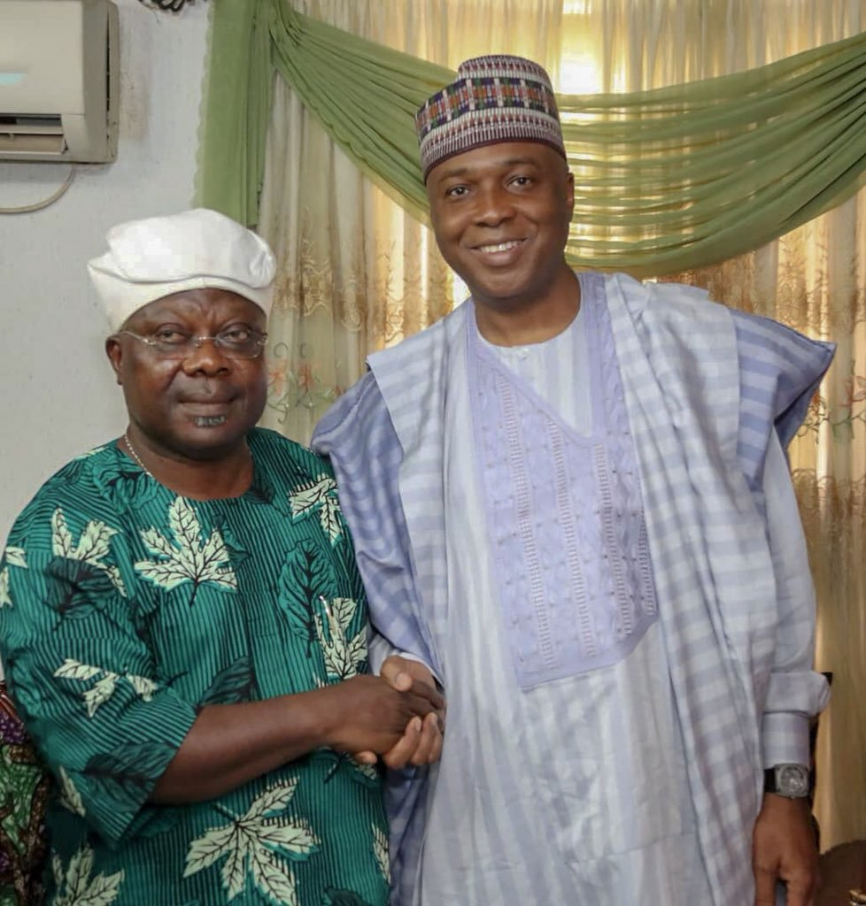 Photo of Saraki Visits Omisore, Ask Him to Support PDP Ahead of Osun Governorship Rerun Election