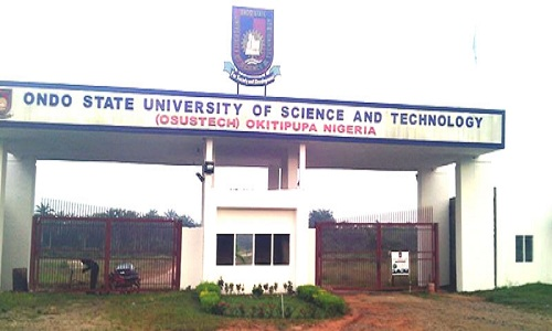 Ondo State University of Science And Technology OSUSTECH - OSUSTECH 2018/2019 Admission List