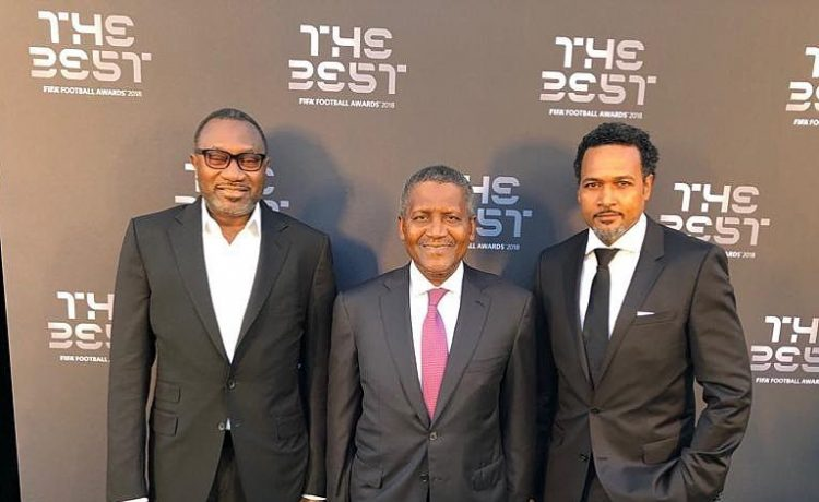 Dangote, Otedola and Cecil Hammond represented Nigeria at the FIFA Best Awards - OkayNG News