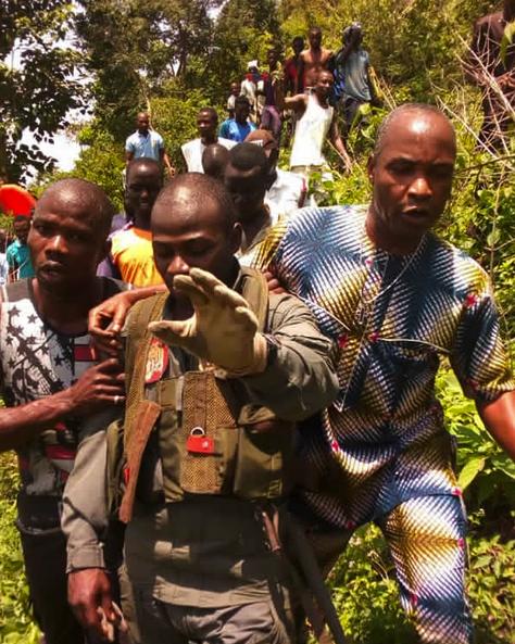 Nigerian Air Force Pilot Survives Crash In Abuja [See Photos]