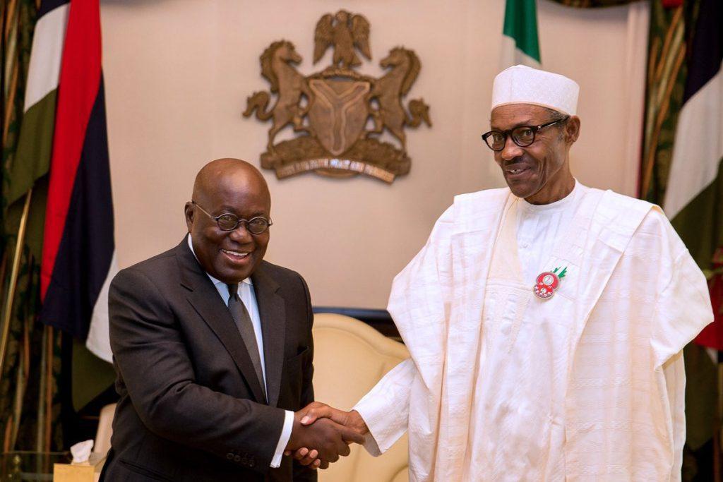 President Muhamadu Buhari of Nigeria and Ghana's Akufo-Addo.