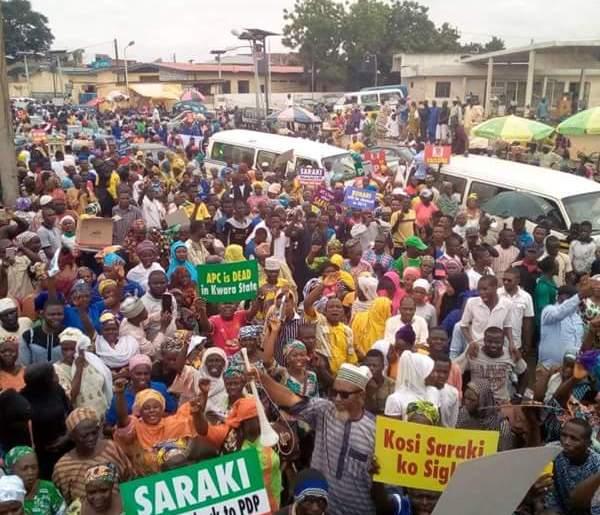 Saraki rally in ilorin okayng - Youths Hold Rally to Support Saraki's 2019 Presidential Ambition In Ilorin