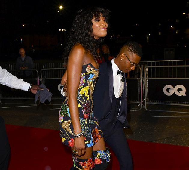 Wizkid Naomi Campbell OkayNG 1 - Wizkid Looking Frosh As He Attends 2018 GQ Awards with Naomi Campbell [See Photos]