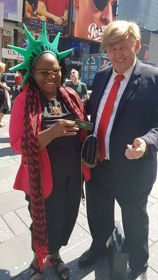 ARMY 180 - Fayose's Mother Spotted With Donald Trump Lookalike In USA [See Photos]