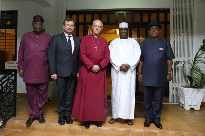 Photo of Atiku Receives Archbishop of Canterbury, Justin Welby In Abuja [See Photo]