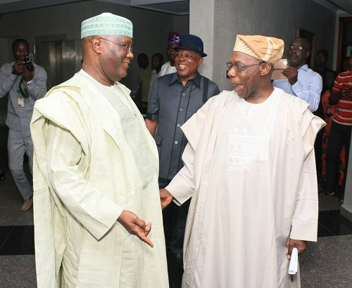 Atiku Obasanjo OkayNG - Atiku wishes Obasanjo happy birthday as he turns 82