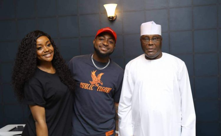 Davido, Chioma Visit Atiku In His Home - OkayNG News