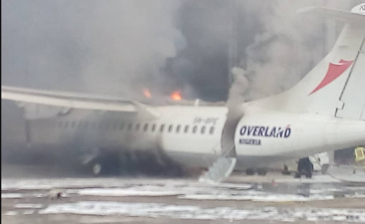 Fire Guts Overland Aircraft at Lagos Airport [Watch Video] - OkayNG News