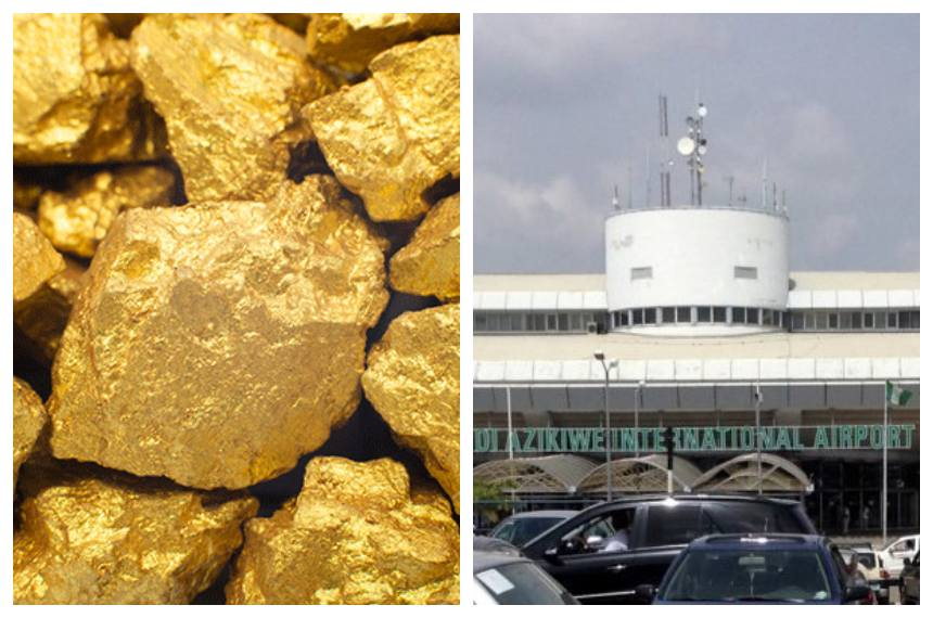 Gold Abuja Airport - EFCC Seizes N1.1 bn Worth of Gold from Man at Abuja Airport