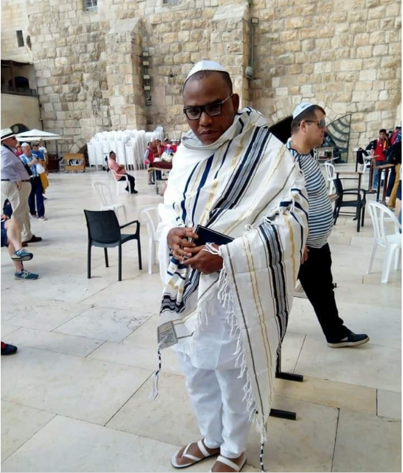 FINALLY! IPOB Leader, Nnamdi Kanu Spotted In Jerusalem [See Photos + Video]