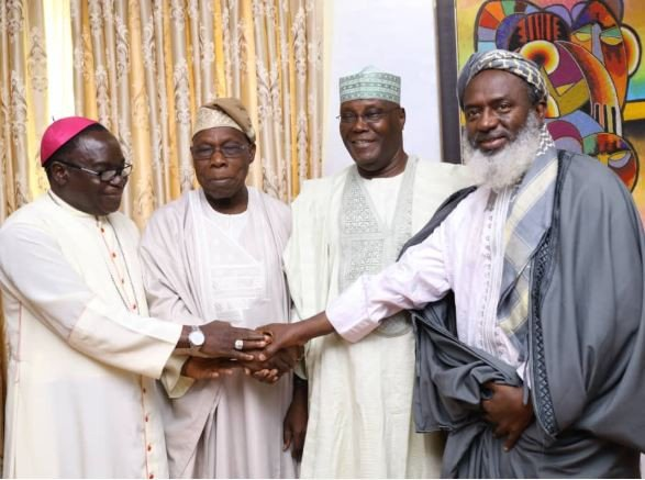 Photo of Bishop Oyedepo, Kukah, Sheikh Gumi Join Closed Doors Meeting with Atiku, Obasanjo [See Photos]