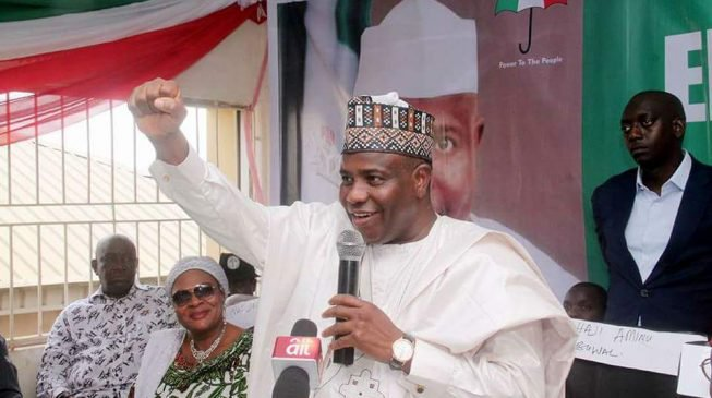 Photo of PDP's Aminu Tambuwal reelected as governor of Sokoto state