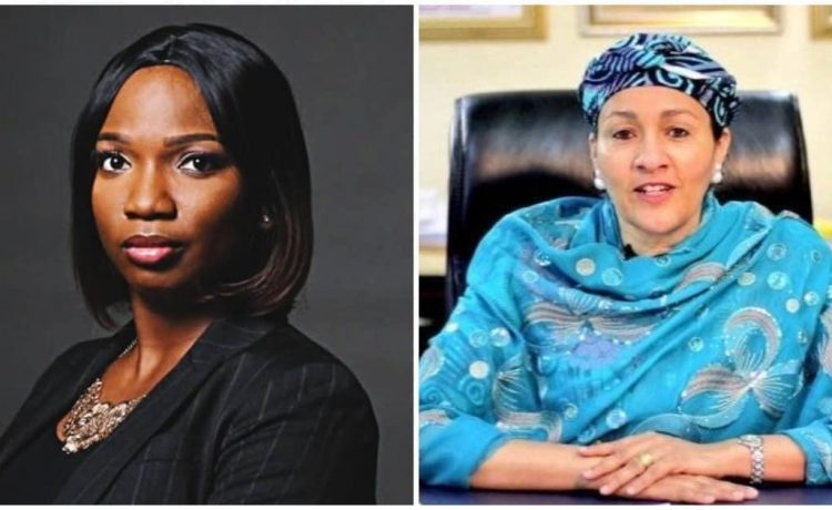 Abisoye Ajayi-Akinfolarin and Amina Mohammed