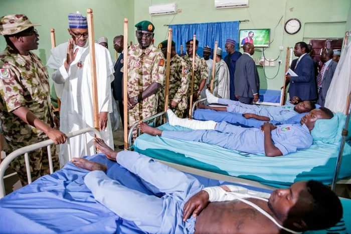 Buhari Meets with Troops In Borno, Encourage Them to Stay Focused In Fight Against Boko Haram Terrorists - OkayNG News