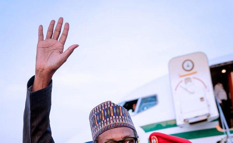 Buhari Returns to Abuja After Paris Peace Forum In France [Photos] - OkayNG News