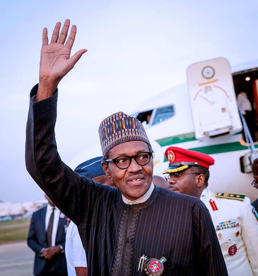 Photo of Buhari Returns to Abuja After Paris Peace Forum In France [Photos]