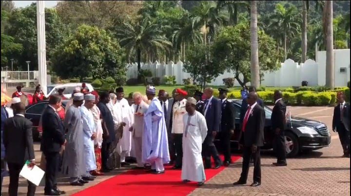 Buhari Prince Charles OkayNG - Buhari Receives Prince Charles and Wife, Camilla In Aso Rock [Watch Video]