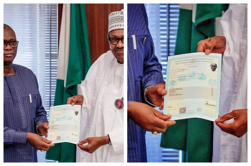 Buhari WAEC Collage OkayNG - PDP Mocks Buhari Over WAEC Attestation, Insist that He Has No Certificate