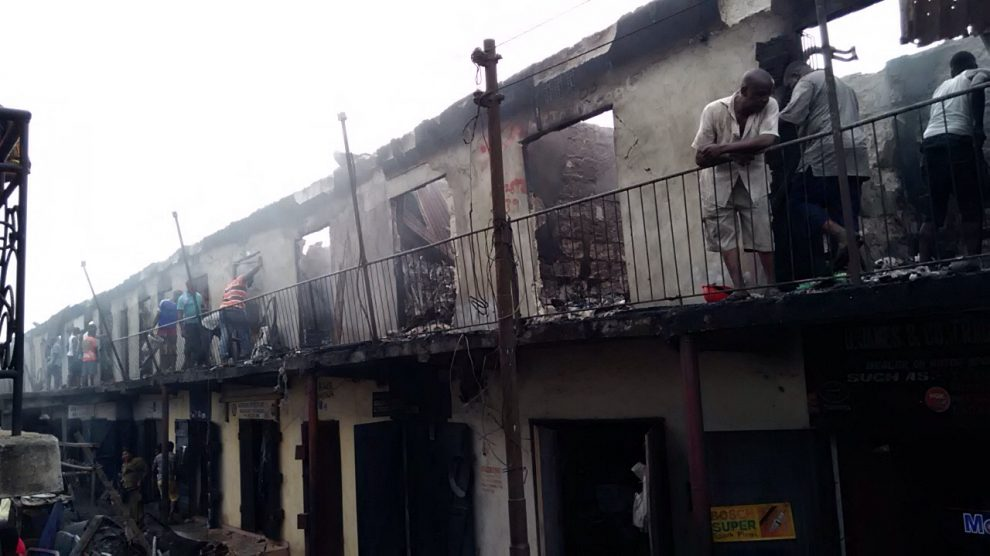 Fire Destroys 156 Shops Nkwo Ngwa Market in Aba