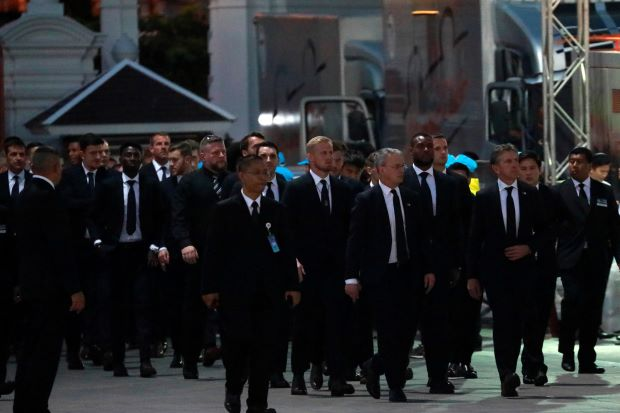 Leicester Players Funeral OkayNG 1 - Leicester City Players Return to England After Late Owner's Funeral In Thailand