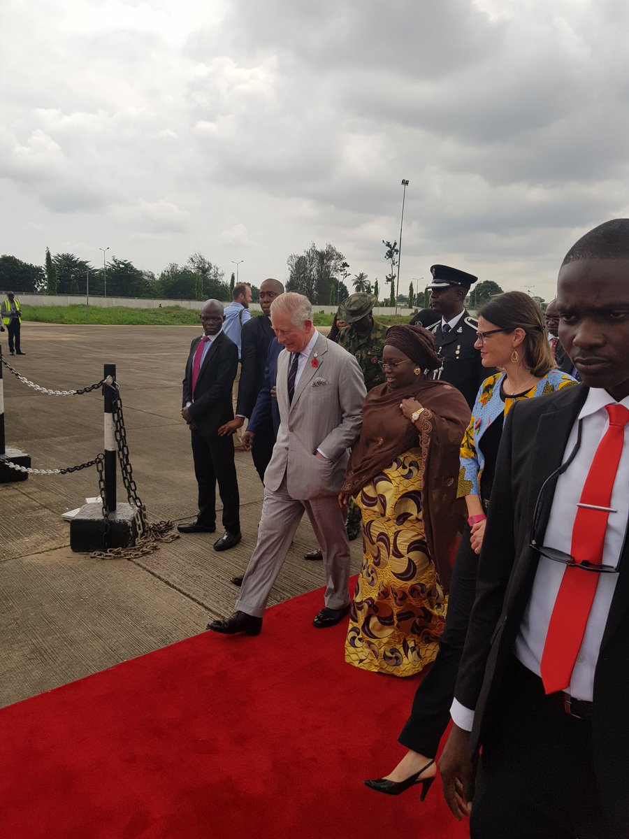 Prince Charles Arrive Lagos [Photos]