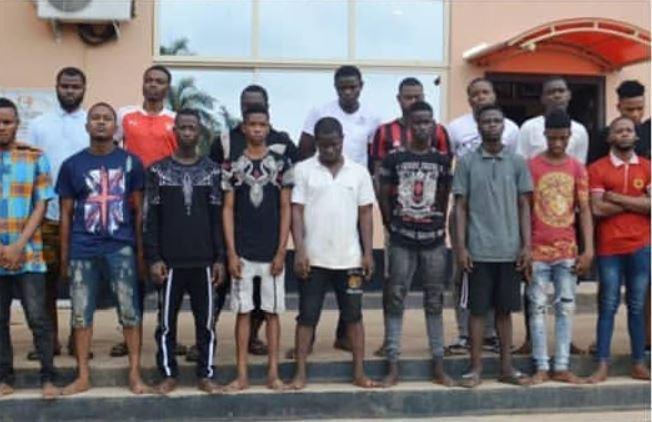 EFCC Arrests 36 Internet Fraudsters In Ogun, Recover Charms [Photos] - OkayNG News