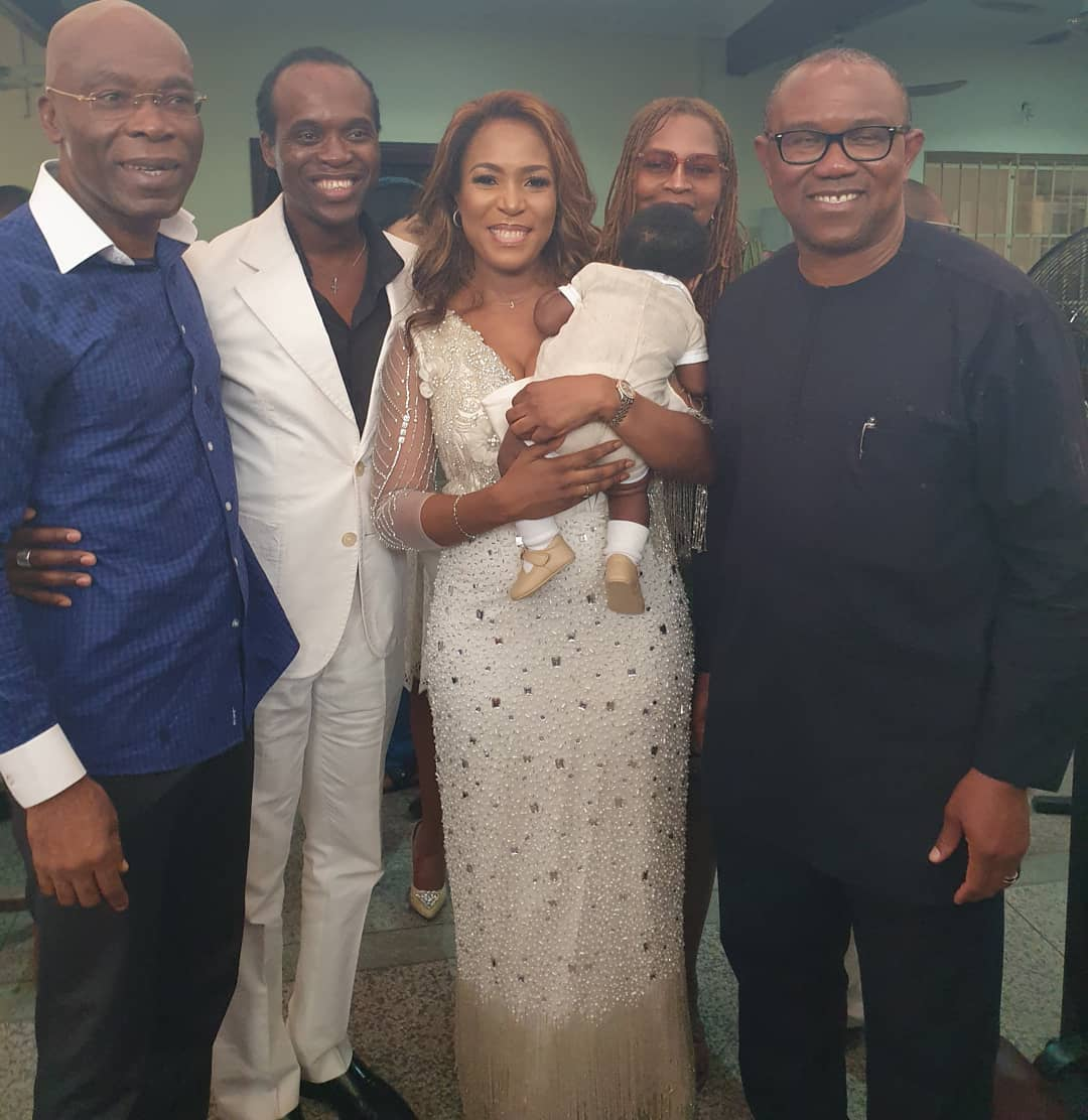 Photo of Peter Obi, AY and Other Top Dignitaries Attends Linda Ikeji's Son's Thanksgiving Service [See Photos]