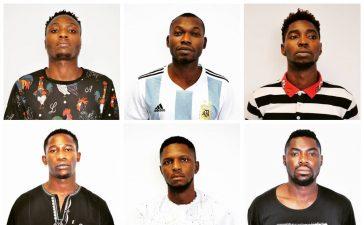 Arrested Internet Fraudsters