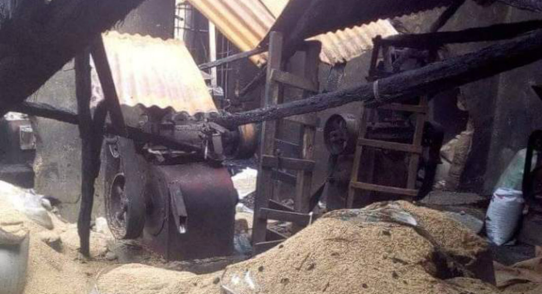 Photo of Fire Guts Abakaliki Rice Mill, Machinery, Rice Products Destroyed