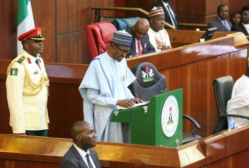 Buhari 2019 Budget OkayNG - Buhari Presents N8.83trn Budget for 2019