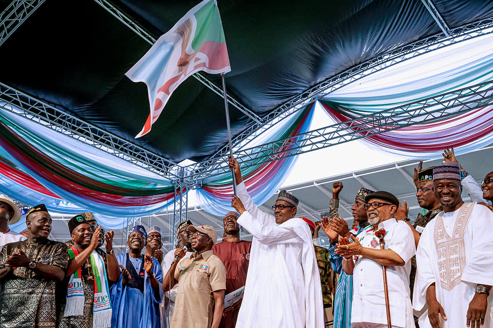 Buhari in uYO OkayNG - Tinubu Calls On Nigerians to Re-elect Buhari for Second Term in 2019