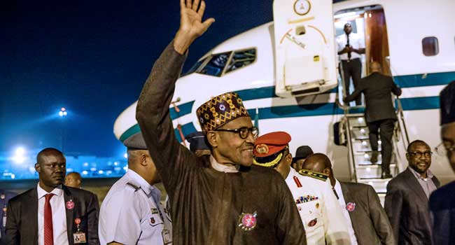 Buhari Returns to Abuja After Climate Change Conference In Poland [Photos] - OkayNG News