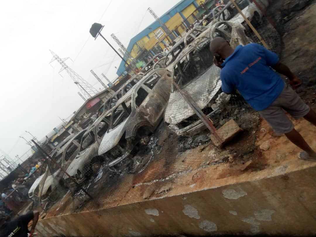 Photo of Properties Destroyed As Pipeline Explosion Rocks Abule Egba Area of Lagos [Photos]
