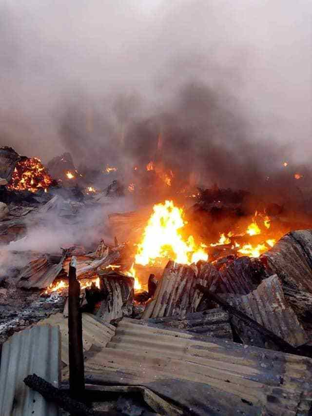 Keffi Market Fire OkayNG 1 - Midnight Fire Guts Keffi Main Market [Photos]