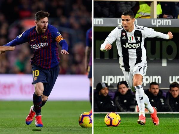 Messi Ronaldo OkayNG - Ronaldo Challenges Messi to Join Him In SERIE A