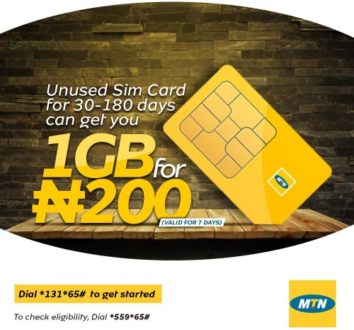 Mtn Unsed Sim offer - How To Get 1GB For N200 Through MTN Welcome Back Offer