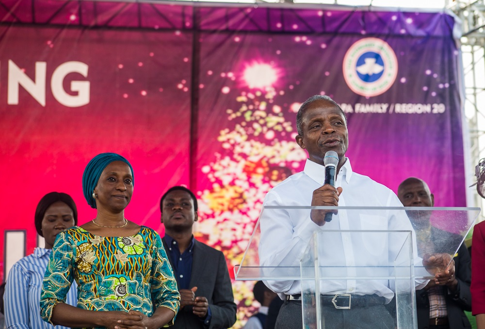 Photo of Osinbajo, Wife Attend Family Christmas Day Service In Lagos [Photos]