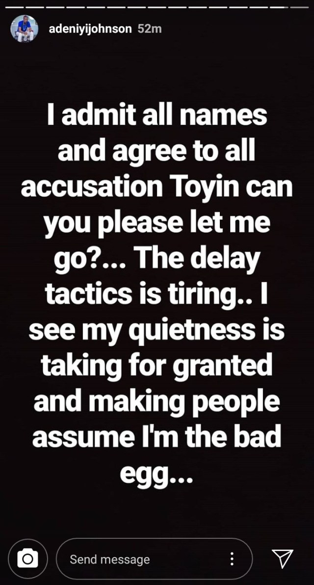 Adeniyi Johnson Cries Out, Pleads with Toyin Abraham to Sign Divorce Papers - OkayNG News