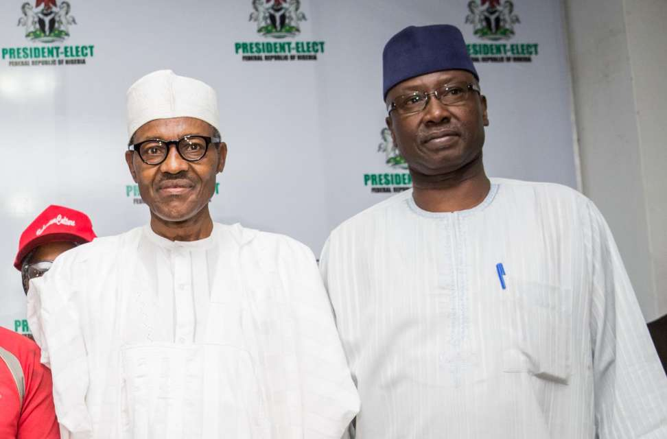 Photo of SGF Boss Mustapha Greets President Buhari at 76
